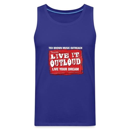 Live It OutLoud Logo - Men's Premium Tank