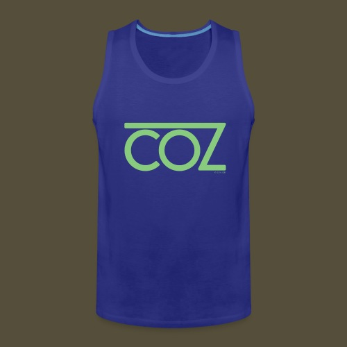 coz_logo_lightgreen - Men's Premium Tank