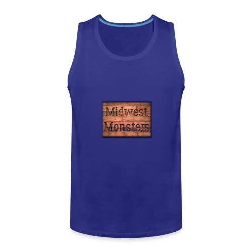 Midwest Monsters Wood Logo - Men's Premium Tank
