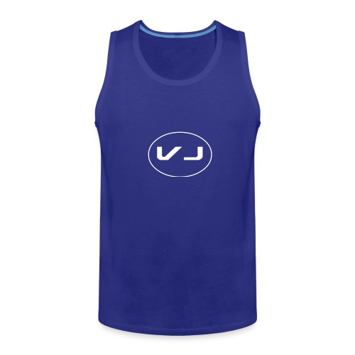 Vloggerjoe White circle lgo - Men's Premium Tank