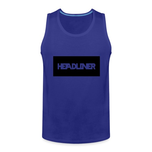 HEADLINER LOGO TRANSPARENT ON BLACK - Men's Premium Tank