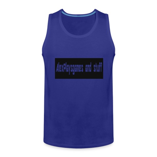 AlexPlaysgames and stuff design - Men's Premium Tank
