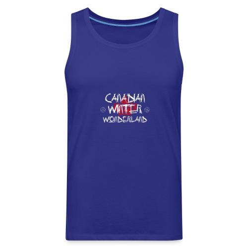 Canadian Winter Wonderland - Men's Premium Tank