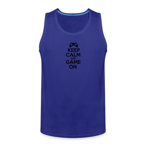 Keep calm and game on - Men's Premium Tank