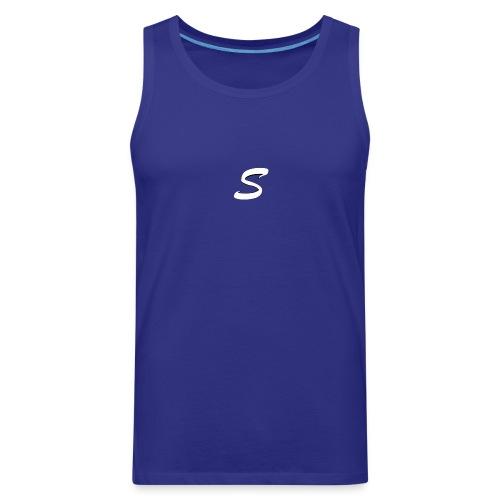 smtsclan white logo - Men's Premium Tank