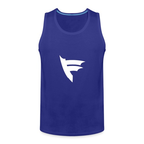 the f white - Men's Premium Tank