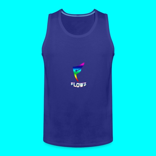 Multi-Colour Flowz Logo With Text - Men's Premium Tank