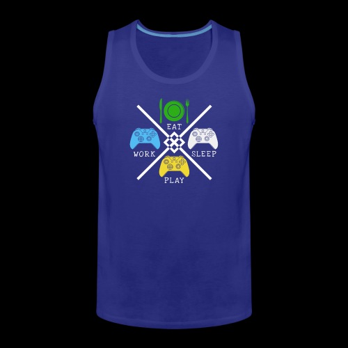 EAT WORK PLAY SLEEP REPEAT - Men's Premium Tank