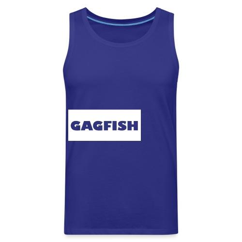 GAGFISH WIGHT LOGO - Men's Premium Tank