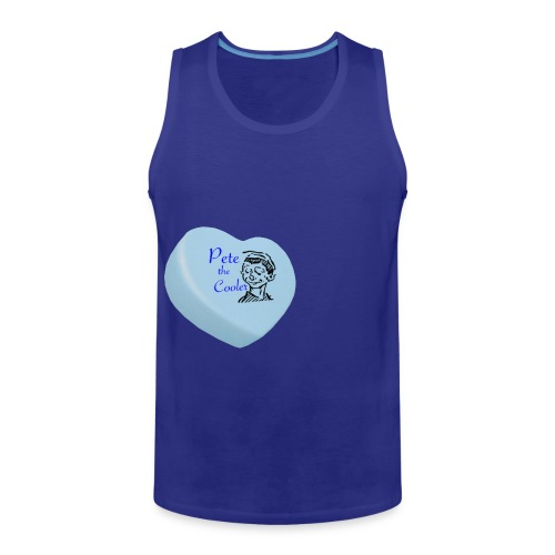 Pete the Cooler Candy Heart - blue - Men's Premium Tank