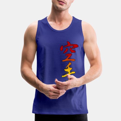 Karate Kanji Red Yellow Gradient - Men's Premium Tank
