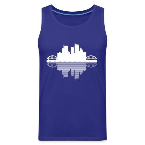 Pittsburgh Skyline Reflection - Men's Premium Tank