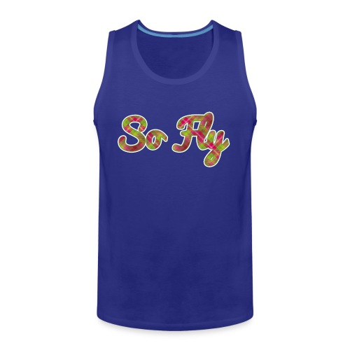 So Fly Pink and Green Plaid - Men's Premium Tank