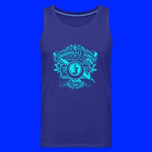 Vintage Cannonball Bingo Crest Bright Blue - Men's Premium Tank