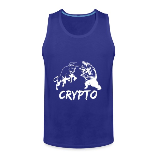 CryptoBattle White - Men's Premium Tank
