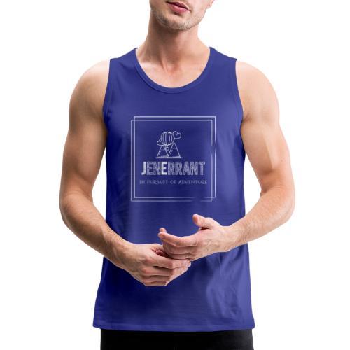 White JenErrant Logo-No Background! - Men's Premium Tank