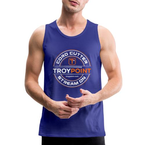TROYPOINT Cord Cutter - Orange Logo - Men's Premium Tank