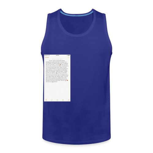 Text from a Football Commit - Men's Premium Tank