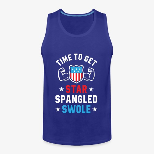 Time To Get Star Spangled Swole - Men's Premium Tank