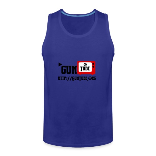 GunTube Shirt with URL - Men's Premium Tank