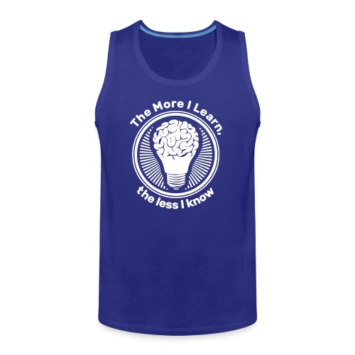 logo The More I Learn the Less I know - Men's Premium Tank
