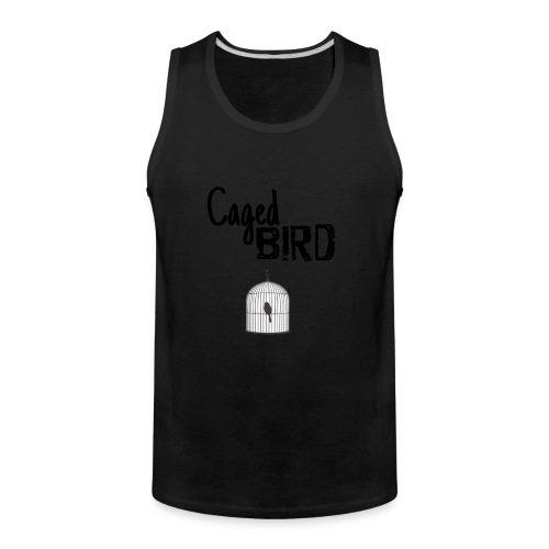 Caged Bird Abstract Design - Men's Premium Tank