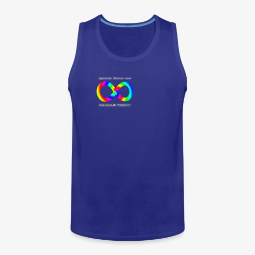 Embrace Neurodiversity with Swirl Rainbow - Men's Premium Tank