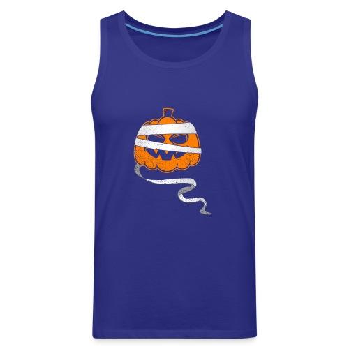 Halloween Bandaged Pumpkin - Men's Premium Tank