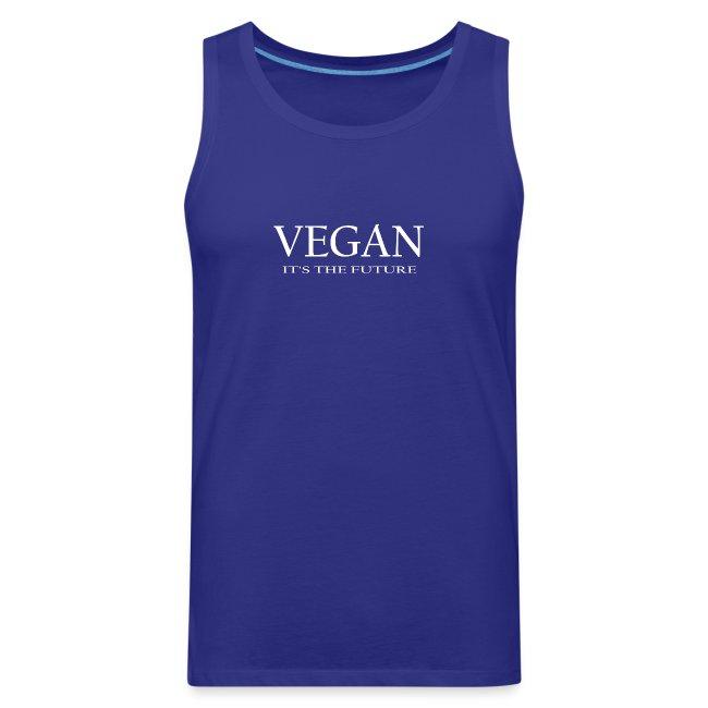 Vegan. It's the future - white font