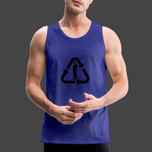 Recycle (Man Logo 1 - Dark) - Men's Premium Tank