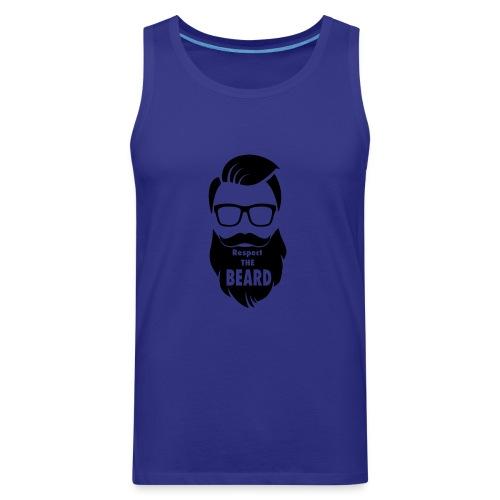 Respect the beard 08 - Men's Premium Tank