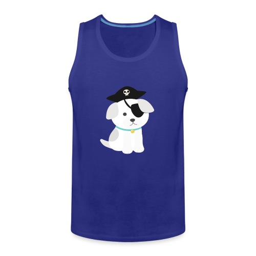 Dog with a pirate eye patch doing Vision Therapy! - Men's Premium Tank