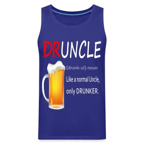 Druncle Beer T shirt Gift For Men - Men's Premium Tank