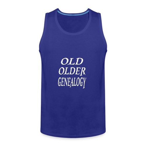 Old older genealogy family tree funny gift - Men's Premium Tank