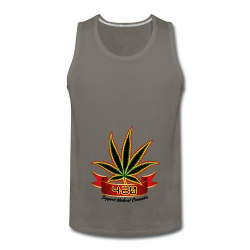 support_medical_cannabis_420 - Men's Premium Tank