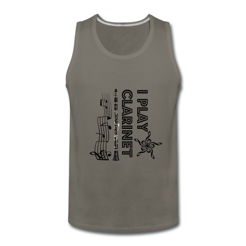 i play clarinet - Men's Premium Tank