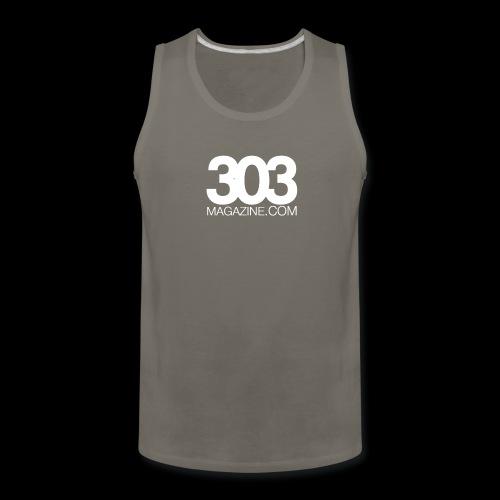 303 Magazine — White Logo - Men's Premium Tank