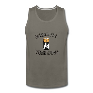 Recharge with hugs - Men's Premium Tank