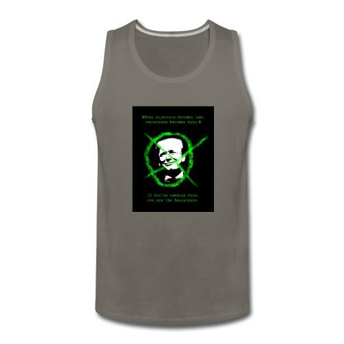 Anti Donald Trump Resistance Election 2016 T-shirt - Men's Premium Tank