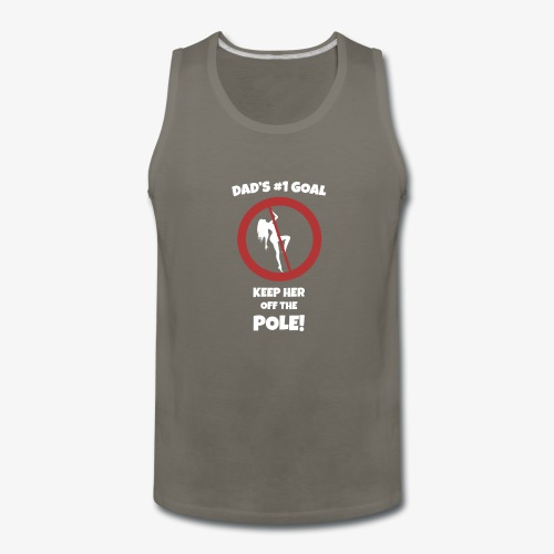 Dad s No 1 Goal - Men's Premium Tank