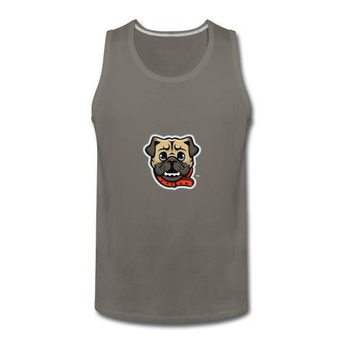 Pug_Mascot_WhiteBG - Men's Premium Tank
