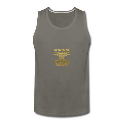 tshirt_pilotVersion_nologo_gold - Men's Premium Tank