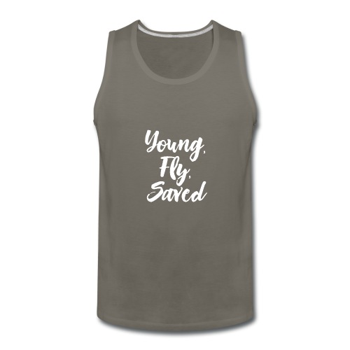 Young Fly Saved - Men's Premium Tank