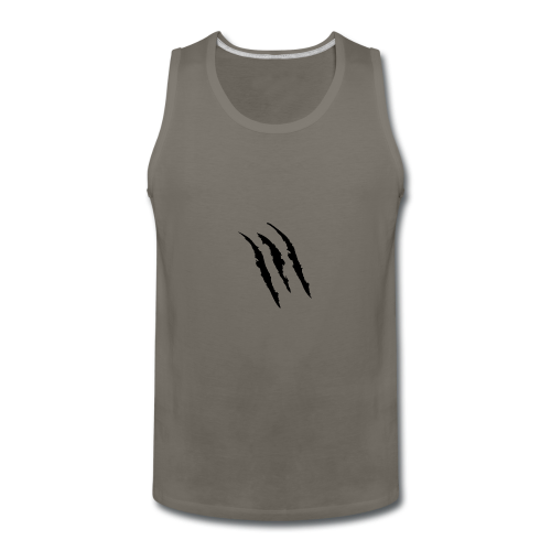 3 claw marks Muscle shirt - Men's Premium Tank