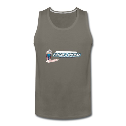 Popcorn and Joysticks Banner - Men's Premium Tank