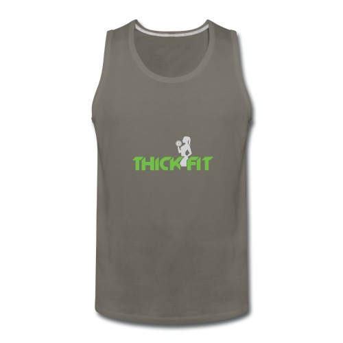 thick_fit_green_without_tag_line - Men's Premium Tank