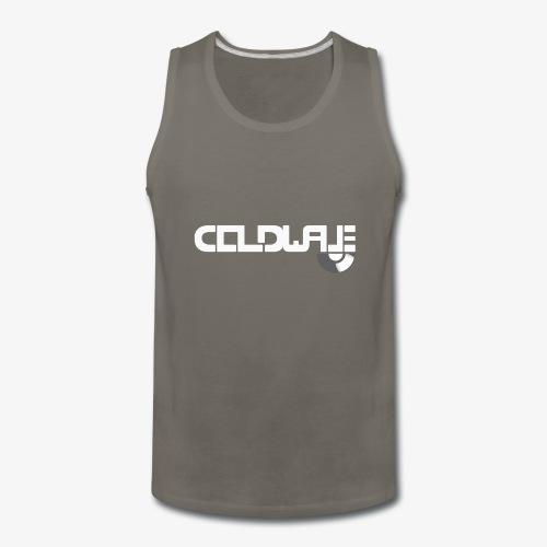 Coldwave Logo with (half) Vinyl - White - Men's Premium Tank