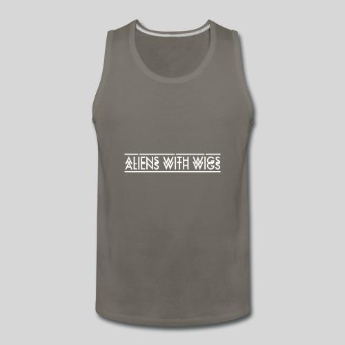 AliensWithWigs-Logo-Blanc - Men's Premium Tank