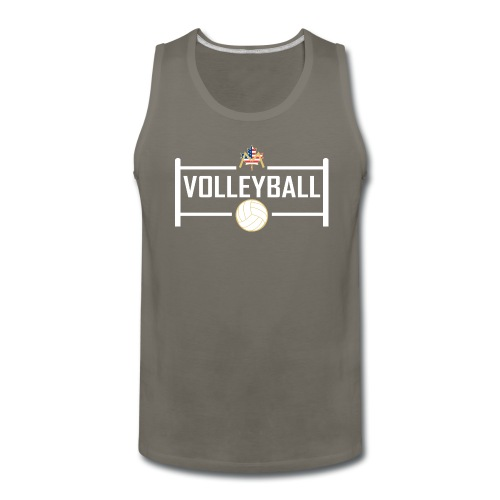 Block City Volleyball Design - Men's Premium Tank