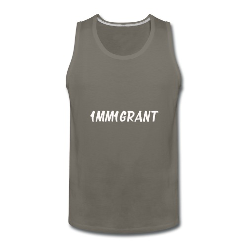 1MM1GRANT White - Men's Premium Tank